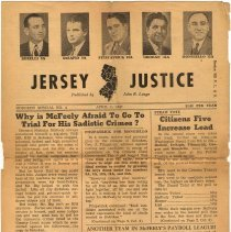 Image of Digital images of Jersey Justice. Published by John R. Longo; Hoboken Special No. 4, April 11, 1947. - Newspaper