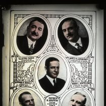 Image of Lantern slide: Board of Commissioners, City of Hoboken, 1918. Circa 1918-1920. - Transparency, Lantern-slide