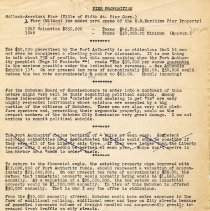 "Image of Digital image of single typewritten leaf titled ""Pier Proposition."" Regarding Holland-American Line Fifth Street Pier, Hoboken, no date, ca.1949-1951. - Documents"