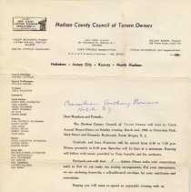 Image of Digital images of letter, ticket, ticket envelope1969. Museum does not own original items.