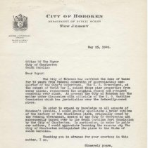 Image of Digital images of letters: correspondence between George J. Fitzpatrick of Hoboken and City of Charleston, South Carolina re piers & terminals, 1949, - Correspondence