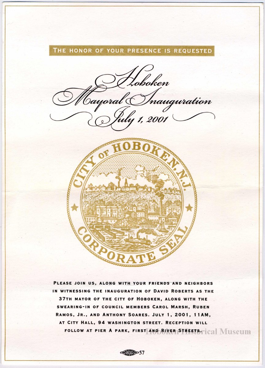digital images of program and related items for 2001 inaugural title