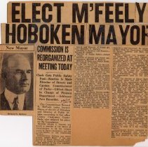 Image of Digital image of Dec. 31, 1929 Hudson Observer newsclipping re Bernard N. McFeely becoming Mayor of Hoboken. - Documents