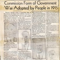 Image of Digital images of photocopy of news article about history of Hoboken's Commission form of government and the then current office holders. - Documents