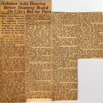 Image of Digital images of newsclipping: Hoboken Ask Hearing Before Board on City's Bid for Piers. Hudson Dispatch, Aug 17, 1930. - Documents