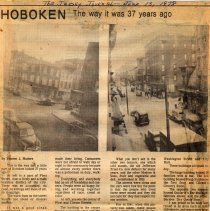 Image of Digital images of newsclipping: Hoboken, The Way It Was 37 Years Ago. Jersey Journal, June 13, 1978. - Documents
