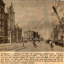 Image of Digital image of newsclipping: captioned photo - Washington St., Hoboken in 1901. No source, no date, circa 1970's. - Documents