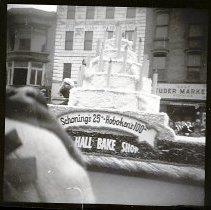 Image of B+W negative photo of the 1955 Hoboken Centennial Parade, Washington St., Hoboken, March 1955. - Negative, Roll Film