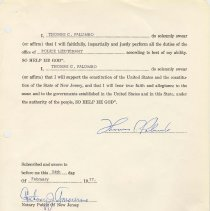Image of Digital images of documents: letter of appointment by Mayor Steve Cappiello of Police Lieutenant Thomas C. Palumbo, 1977. - Documents