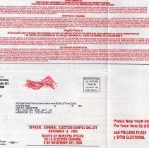 Image of detail bottom left ballot side