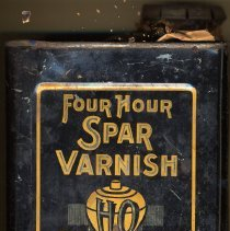 Image of Can: Four Hour Spar Varnish, Manufactured by Hotopp Varnish Co., Hoboken, no date, ca. 1900-1920. - Can
