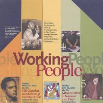 Image of Poster for Working People lecture series, HHM, Hoboken, Feb.- Aug., 2006. - Poster