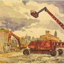 Image of Postcard: Water, Paper, Color: My Hoboken Perspective. The Watercolor Series by Ray Guzman. HHM exhibit, Nov. - Dec., 2006. - Postcard