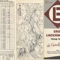 Image of Timetable: Erie-Lackawanna Rwy., long distance trains, June 15, 1969. - Timetable