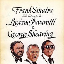 Image of Program, souvenir: Frank Sinatra...Luciano Pavarotti & George Shearing for Memorial Sloan-Kettering Cancer Center. Radio City..., Jan. 24, 1982. - Program
