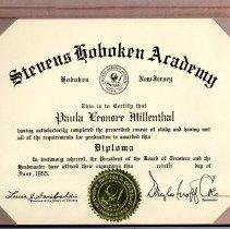 Image of diploma in folder