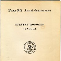 Image of Digital images of program for 95th annual commencement, Stevens Hoboken Academy, Hoboken, June 9, 1955 belonging to Paula Leonore Millenthal (Cantor). - Program
