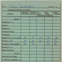 Image of grade record June 1955