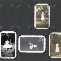 Image of Digital images of 17 photo album leaves with 234 photos of the Millenthal family including Paula Millenthal at Stevens Hoboken Academy, Hoboken, ca. 1948-1950's. - Album, Photograph
