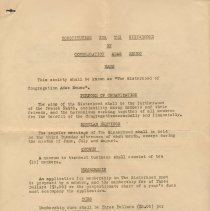 Image of Digital images of Constitution of the Sisterhood of Congregation Adas Emuno, (Hoboken), in effect as of Jan. 1, 1938. - Documents