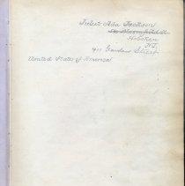 Image of 1 Juliet Ada Jackson, owner's inscription