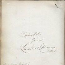 Image of 22 1881 Lewis Lippmann