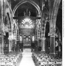 Image of Digital image of photo of the chapel interior of Church of the Holy Innocents, Hoboken, ca. 1920's. - Print, Photographic