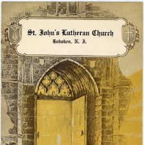 Image of Program: Saint John's Lutheran Church, Hoboken, Palm Sunday, April 1, 1928. With confirmation class list. - Program