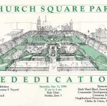 Image of Poster: Church Square Park Rededication. (Hoboken), Saturday, May 31, 1986. - Poster