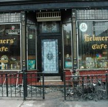 Image of Color photos, 2, of the exterior of Helmer's Restaurant after a fire, Hoboken, May 11, 2006. - Photograph