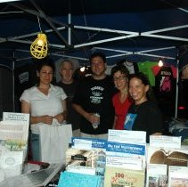 Image of Color photos, 3, of Museum booth at Saint Ann's Festival, Hoboken, July 26, 2006. - Photograph