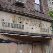 Image of Color photos, 2, of the remains of a sign for Ralph's Cleaners, 1118 Washington St., Hoboken, June 8, 2006. - Photograph