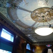 Image of Color photo of Elysian Cafe ceiling in bar room (front room), Hoboken, January 11, 2006. - Photograph