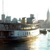Image of Color photos, 8, of the former ferry,Yankee, moored at pier between 12th and 13th Sts., Hoboken, October 27, 2006. - Photograph