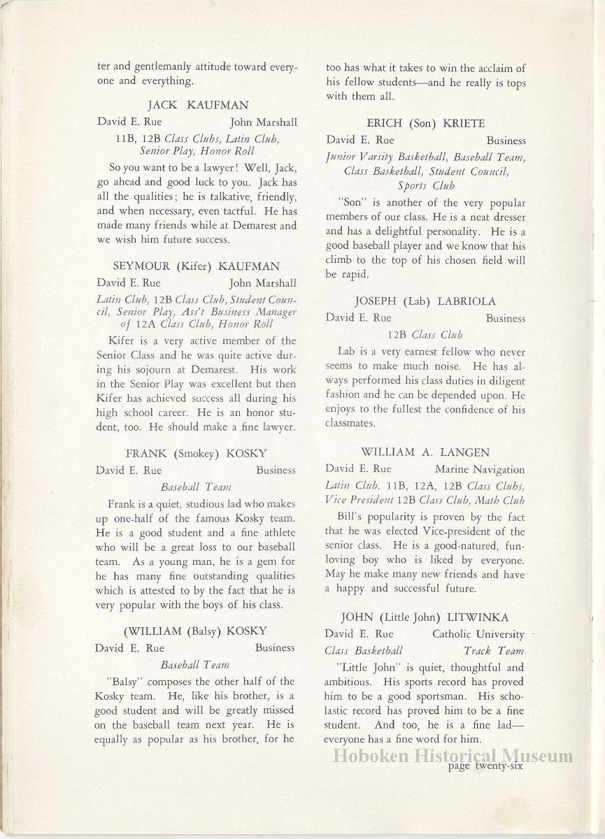 The High Light  Senior Issue  June, 1940  Demarest High School