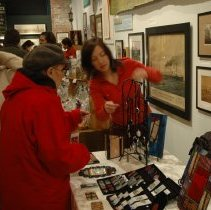 Image of Color photos, 41, of holiday crafts fair at Hoboken Historical Museum, Hoboken, December 10, 2006. - Photograph
