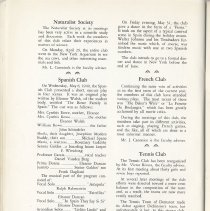 Image of pg 48 news by club: Naturalist Society, Spanish, French, Tennis