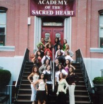 Image of Color photograph of the last graduating class of Academy of the Sacred Heart, Hoboken, June, 2006. - Print, Photographic