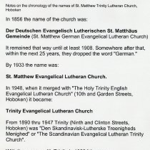 Image of chronology of church name