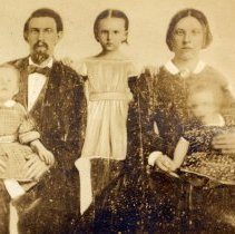 Image of Digital image of sepia-tone photo of family dated on reverse as 1857; found in Record Book No. 1, St. Matthew Evangelical Lutheran Church, Hoboken. - Print, Photographic