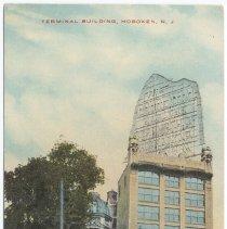 Image of Postcard: Terminal Building, Hoboken, N.J. No date, ca. 1911-1925. - Postcard
