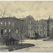 Image of Postcard: Eleventh St., Hoboken, N.J. No date, circa 1907-1917, unposted. - Postcard