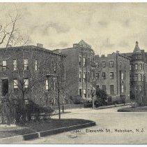 Image of Postcard: Eleventh St., Hoboken, N.J. No date, circa 1907-1917, unposted. - Postcard