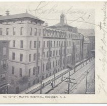 Image of Postcard: No. 12 - St. Mary's Hospital, Hoboken, N.J. Postmarked Nov. 12, 1906. - Postcard