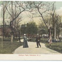 Image of Postcard: Hudson Park, Hoboken, N.J. No date, circa 1901-1907, unposted. - Postcard