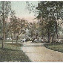 Image of Postcard: River [Hudson] Square Park, Hoboken, N.J. No date, circa 1901-1907; unposted. - Postcard