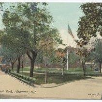 Image of Postcard: Hudson Square Park, Hoboken, N.J. No date, circa 1907-1917; unposted. - Postcard