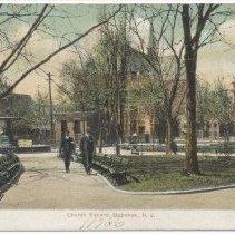 Image of Postcard: Church Square [Park], Hoboken, N.J. No date, circa 1901-1907; unposted. - Postcard