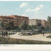 Image of Postcard: 10th Str. [Elysian] Park, Hoboken, N.J. No date, circa 1901-1907; unposted. - Postcard