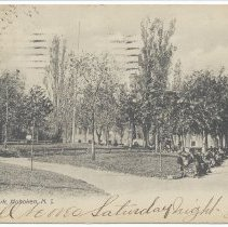 Image of Postcard: Hudson Park [Hudson County Park or Columbus Park], Hoboken, N.J. Postmarked Dec. 4, 1906. - Postcard